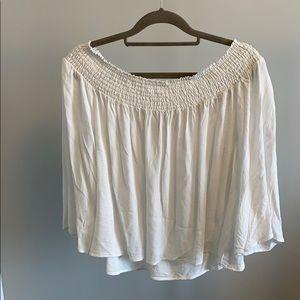 Talula aritzia white off shoulder blouse